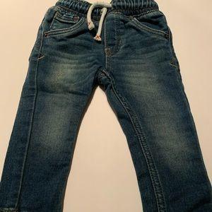 Drawstring skinny jeans